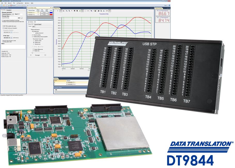 Nouveau module d'acquisition de données haute précision dt9844 32 analog input data acquisition module for usb