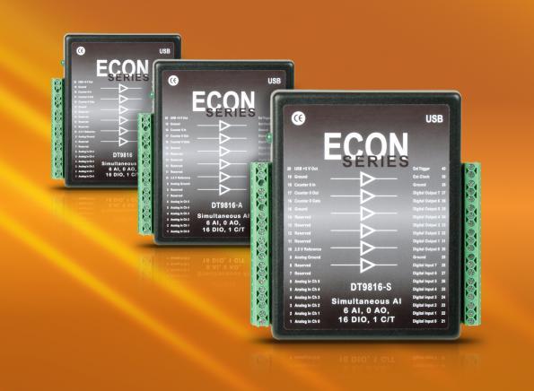 DT9816 DATA TRANSLATION INC MODULE USB ACQUISYS ACQUISITION DE DONNEES distributeur produits DTI en France SAIS Module USB multifonction d'acquisition de données simultanées faible coût