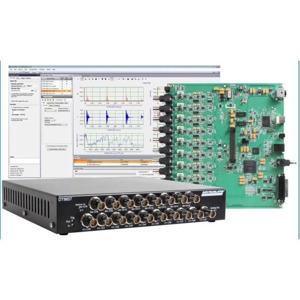 DT9857E SON ET VIBRATION SACASA INDUSTRIES ET SYSTEMES représente en France les produits Data Translation dédiés à l'acquisition et dans les domaines Son et Vibration et à l'analyse vibratoire. DT9857E - Boîtier USB 16 voies de mesure son et vibration The DT9857E USB dynamic signal analyzer provides a higher channel count over other DSA devices to provide highly accurate measurements for portable ...
