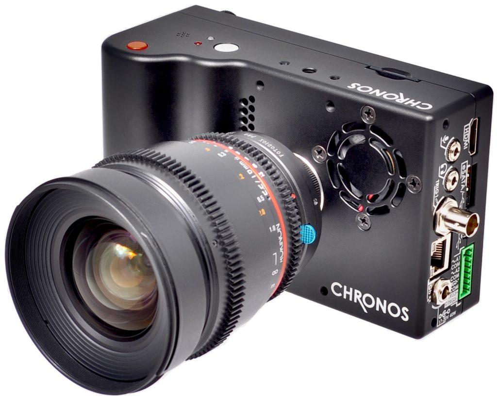 CAMERA CHRONOS SAIS Chronos est une caméra rapide intelligente et autonome équipée d'un capteur CMOS de 1.4 millions de pixels monochrome ou couleur